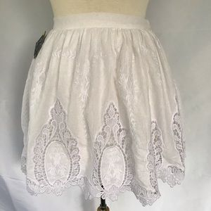 NWT Nasty Gal Embroidered Lace Mini Skirt